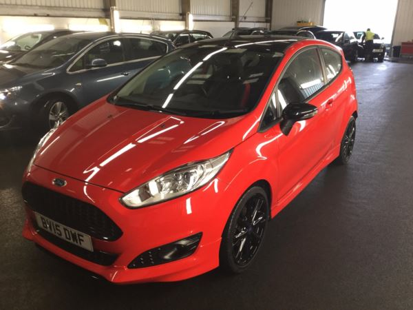 2015 (15) Ford Fiesta 1.0 EcoBoost 140 Zetec S Red 3dr 3 Door Hatchback