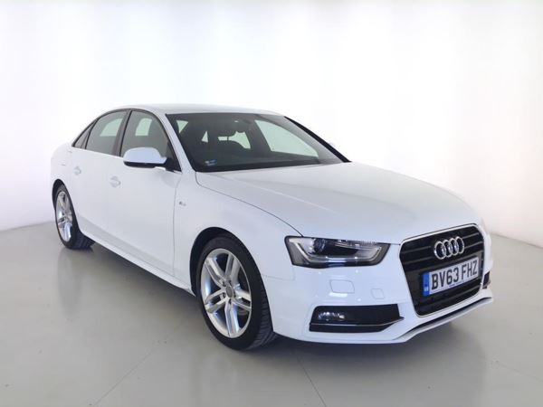 2013 (63) Audi A4 2.0 TDI 177 S Line - Leather - Bluetooth - £30 Tax - 1 Owner - Parksensors 4 Door Saloon