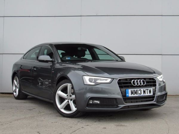 2013 (13) Audi A5 2.0 TDI 177 S Line [5 Seat] - Leather - Bluetooth - £30 Tax - 1 Owner 5 Door Hatchback