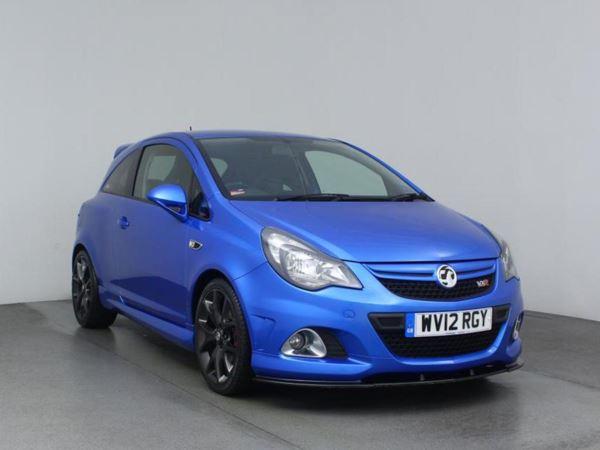 2012 (12) Vauxhall Corsa 1.6T VXR Blue 3dr 3 Door Hatchback