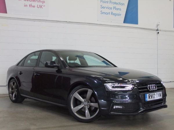 2012 (12) Audi A4 2.0 TDI 177 Black Edition - Leather - Bluetooth - £30 Tax - 1 Owner -Cruise 4 Door Saloon