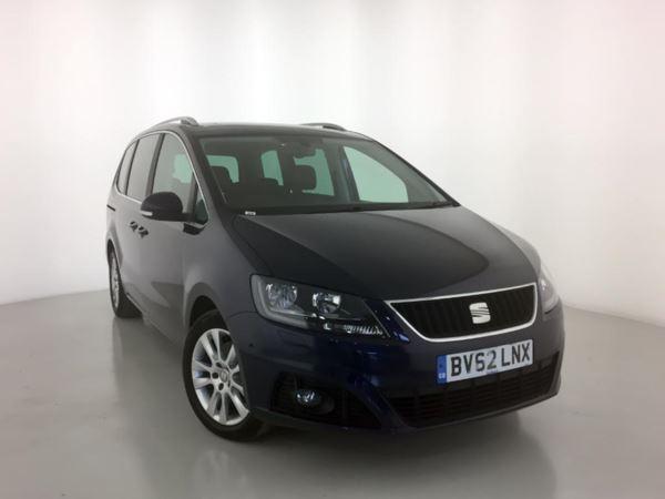 2012 (62) SEAT Alhambra 2.0 TDI CR Ecomotive SE Lux - 7 Seats - PanRoof - Leather - Sat NAV 5 Door MPV