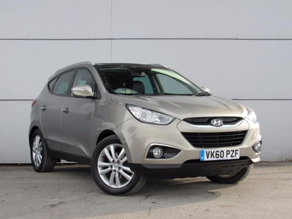 2010 (60) Hyundai Ix35 2.0 CRDi Premium 2WD - Panroof - Bluetooth - Aux Mp3 Input - Cruise 5 Door 4x4