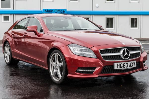 (2013) Mercedes-Benz CLS 2.1 CLS250 BlueEFFICIENCY AMG Sport 7G-Tronic Plus (s/s) 4dr Auto SAT NAV LEATHER SEATS HISTORY