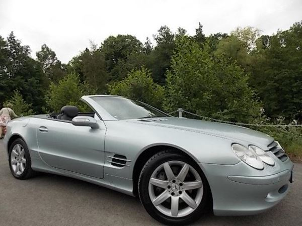 2004 (04) Mercedes-Benz SL Series SL 500 [7] 2dr Tip Auto Met Silver Panoramic Roof For Sale In Stroud, Gloucestershire