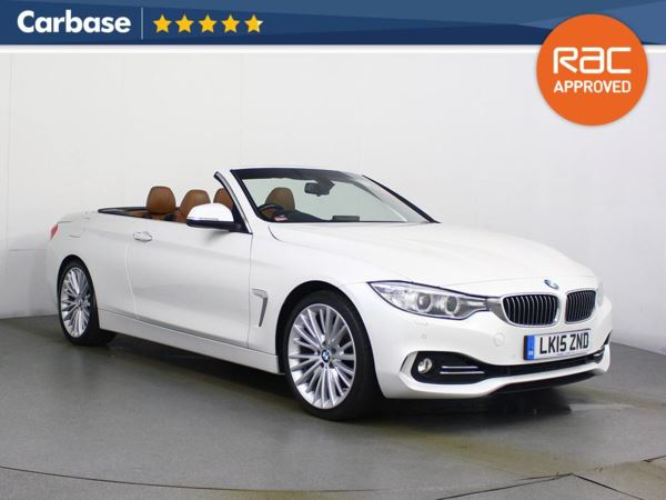 (2015) BMW 4 Series 425d Luxury 2dr Auto Convertible £3115 Of Extras - Satellite Navigation - Luxurious Leather - Bluetooth Connection - Parking Sensors