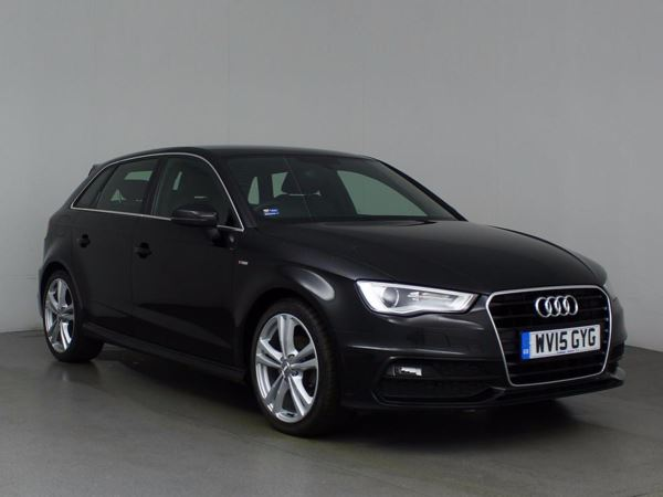 (2015) Audi A3 1.6 TDI 110 S Line 5dr Sportback Luxurious Leather - Bluetooth Connection - Zero Tax - DAB Radio - Xenon Headlights