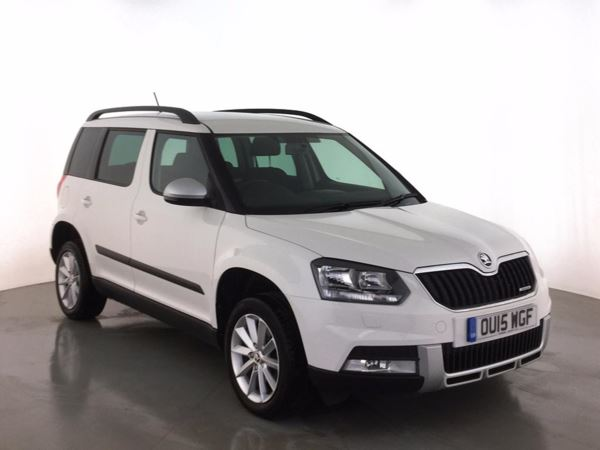 (2015) Skoda Yeti Outdoor 1.6 TDI CR SE GreenLine II 5dr - MPV 5 SEATS Bluetooth Connection - £30 Tax - Parking Sensors - Aux MP3 Input - Cruise Control