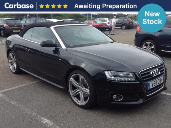 (2011) Audi A5 2.0 TDI S Line 2dr [Start Stop] Convertible £2165 Of Extras - Luxurious Leather - Bluetooth Connection - Parking Sensors