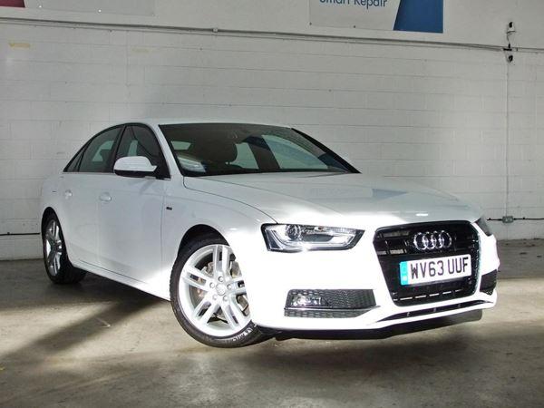 (2013) Audi A4 2.0 TDI 143 S Line 4dr Bluetooth - £30 Tax - 1 Owner - Parking Sensors - DAB - Aux MP3 Input - Xenon - Rain Sensor - Cruise Control - Isofix - 6 Speed - Climate Contro