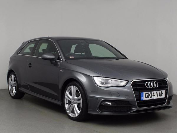 (2014) Audi A3 2.0 TDI S Line 3dr £925 Of Extras - Luxurious Leather - Bluetooth Connection - £20 Tax