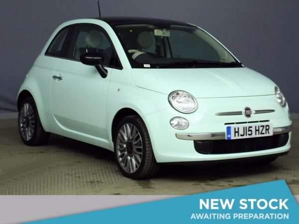 (2015) Fiat 500 1.2 Cult 3dr Panoramic Roof - Bluetooth Connection - £30 Tax - Parking Sensors