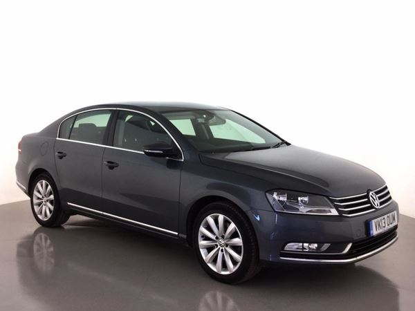 (2013) Volkswagen Passat 1.6 TDI Bluemotion Tech Highline 4dr Satellite Navigation - Bluetooth Connection - £30 Tax - Parking Sensors