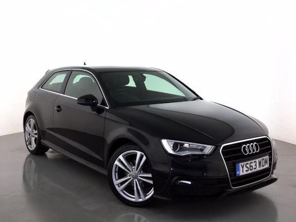 (2014) Audi A3 2.0 TDI S Line 3dr £3065 Of Extras - Satellite Navigation - Luxurious Leather - Bluetooth Connectivity