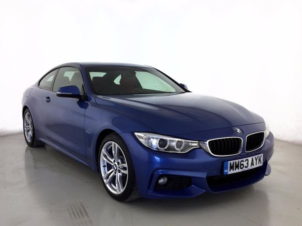 (2014) BMW 4 Series 430d M Sport 2dr Auto Luxurious Leather - Bluetooth Connection - DAB Radio - Rain Sensor - Cruise