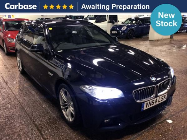 (2014) BMW 5 Series 520d [190] M Sport 5dr Step Auto Touring Satellite Navigation - Luxurious Leather - Bluetooth Connection - Parking Sensors