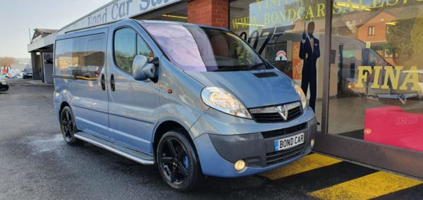 2012 (12) Vauxhall Vivaro 2.0CDTI [115PS] Sportive Doublecab 2.9t Euro 5 6 Seater Crew Bluetooth For Sale In Swansea, Glamorgan