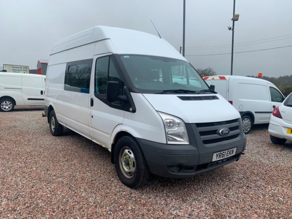 2011 (61) Ford Transit High Roof Van TDCi Euro 5 lwb 8 seat crew van messing unit For Sale In Redruth, Cornwall