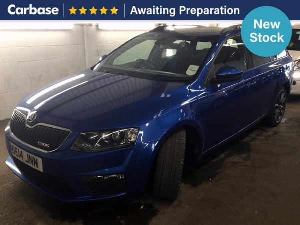 (2014) Skoda Octavia 2.0 TDI CR vRS 5dr Estate £625 Of Extras - Satellite Navigation - Bluetooth Connection - £30 Tax