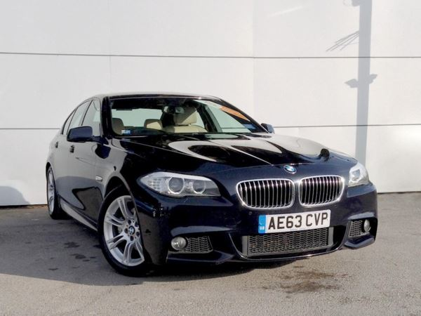 (2013) BMW 5 Series 520d M Sport 4dr Step Auto £3155 Of Extras - Satellite Navigation - Luxurious Leather - Bluetooth