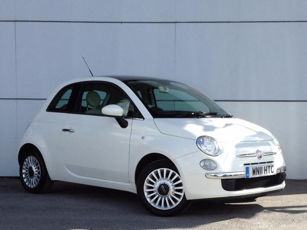 (2011) Fiat 500 1.2 Lounge 3dr [Start Stop] Panoramic Roof - Bluetooth Connection - £30 Tax - Air Conditioning