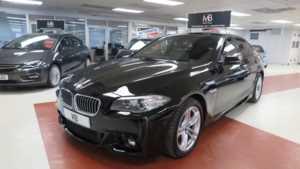 2015 15 BMW 5 Series 520d [190] M Sport 4dr Step Auto Full Lth Sat Nav 4 Doors Saloon