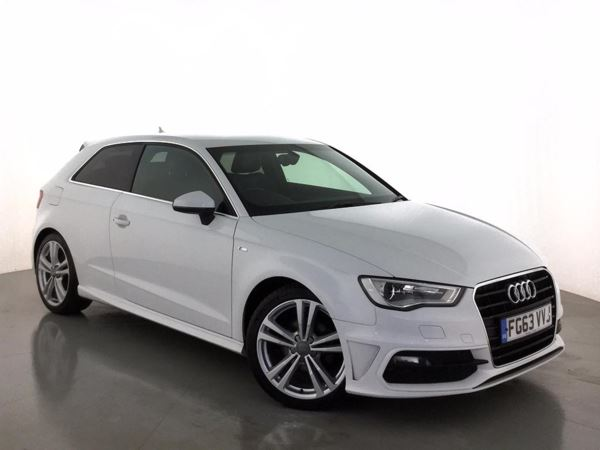 (2014) Audi A3 2.0 TDI S Line 3dr £3205 Of Extras - Satellite Navigation - Luxurious Leather - Bluetooth Connectivity