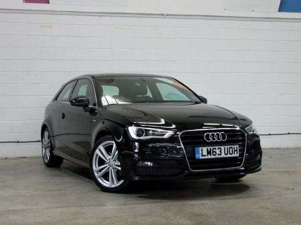 (2013) Audi A3 2.0 TDI S Line 3dr S Tronic Luxurious Leather - Bluetooth Connection - £30 Tax - DAB Radio - Xenon Headlights