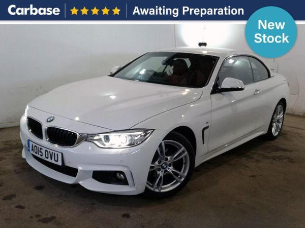 (2015) BMW 4 Series 420i M Sport 2dr - Convertible Satellite Navigation - Bluetooth Connection - Parking Sensors - DAB Radio - Aux MP3 Input