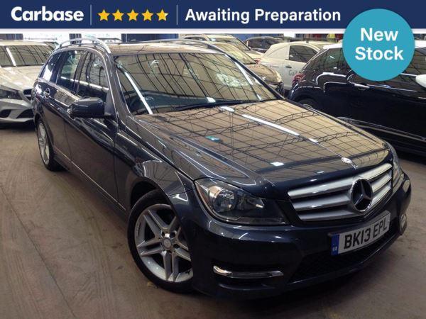 (2013) Mercedes-Benz C Class C220 CDI BlueEFFICIENCY AMG Sport 5dr Estate £725 Of Extras - Bluetooth Connection - Parking Sensors - Aux MP3 Input