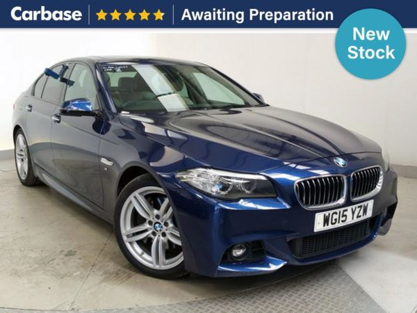 (2015) BMW 5 Series 525d M Sport 4dr Step Auto £5710 Of Extras - Satellite Navigation - Luxurious Leather - Bluetooth Connection - Parking Sensors