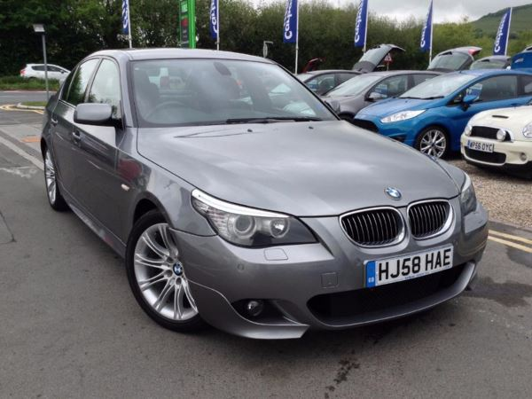 (2008) BMW 5 Series 520d M Sport 4dr [177] Satellite Navigation - Luxurious Leather - Rain Sensor - Cruise Control - Parking Sensors