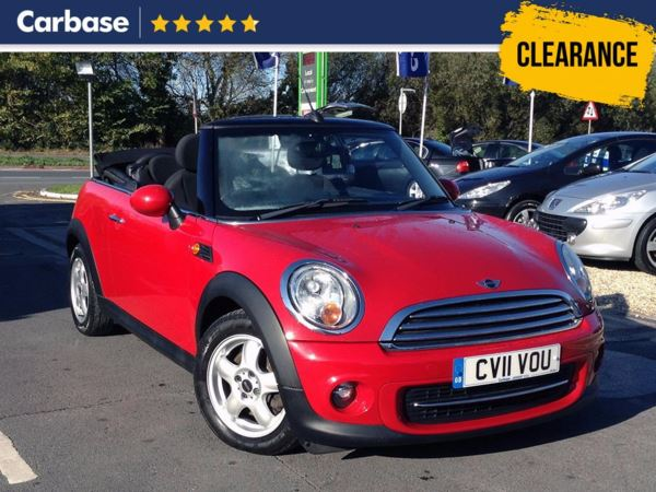 (2011) MINI Convertible 1.6 Cooper D 2dr Convertible Parking Sensors - DAB Radio - Aux MP3 Input - 6 Speed - Air Conditioning