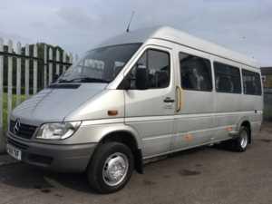 2006 55 Mercedes Sprinter 411 CDi XLWB 15 Seat Wheelchair Accessible Minicoach 4 Doors Minibus