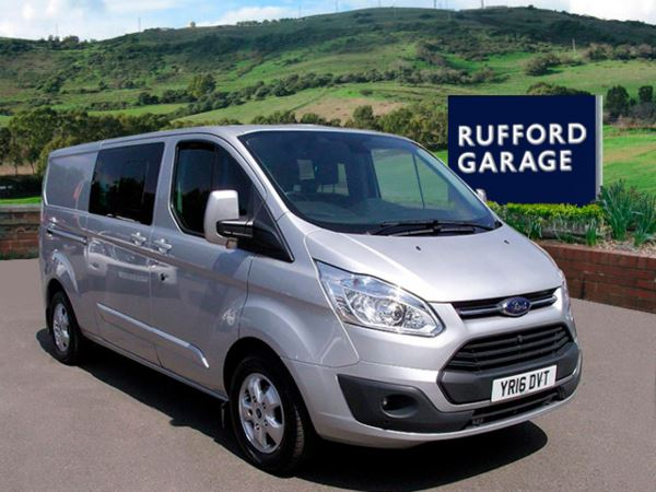 2016 (16) Ford Transit Custom 2.2 TDCi 155ps Crew Cab Limited Van 310 L2 H1 For Sale In Farnsfield, Nottinghamshire