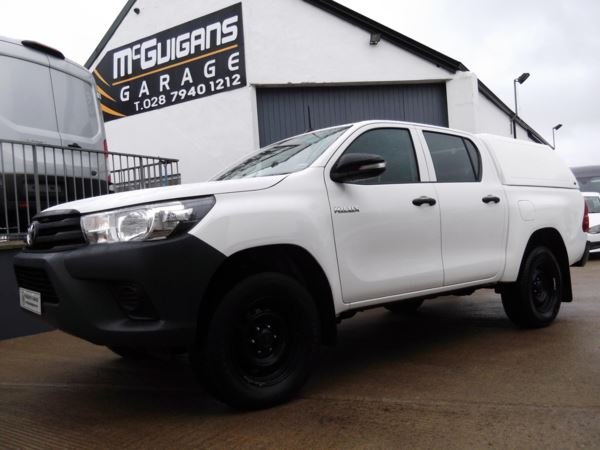 2017 (67) Toyota Hilux ACTIVE, Double Cab, PickUp, 2.4 D-4D 150, Canopy, Tow Bar, Rear Load Liner For Sale In Swatragh, County Derry