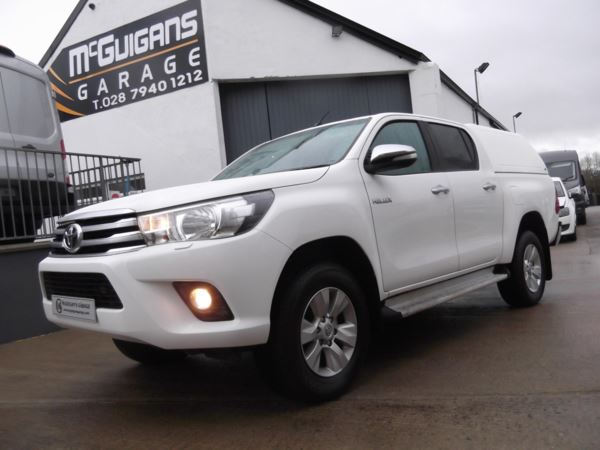 2017 (17) Toyota Hilux Icon D/Cab Pick Up 2.4 D-4D, SAT NAV , Canopy and Load Liner For Sale In Swatragh, County Derry