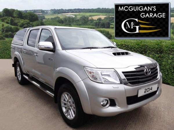 2014 (64) Toyota Hilux INVINCIBLE , 3.0 D-4D 171 , 4x4 , Truckman Canopy For Sale In Swatragh, County Derry