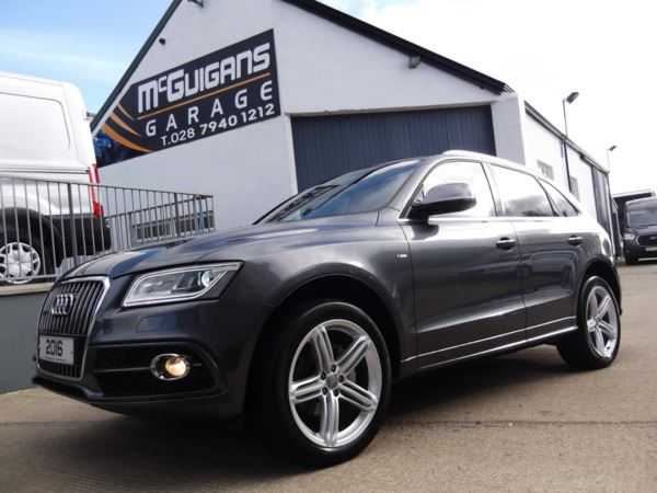 2016 (65) Audi Q5 2.0 TDI [190] QUATTRO , S LINE PLUS , S TRONIC , CHROME STYLING For Sale In Swatragh, County Derry