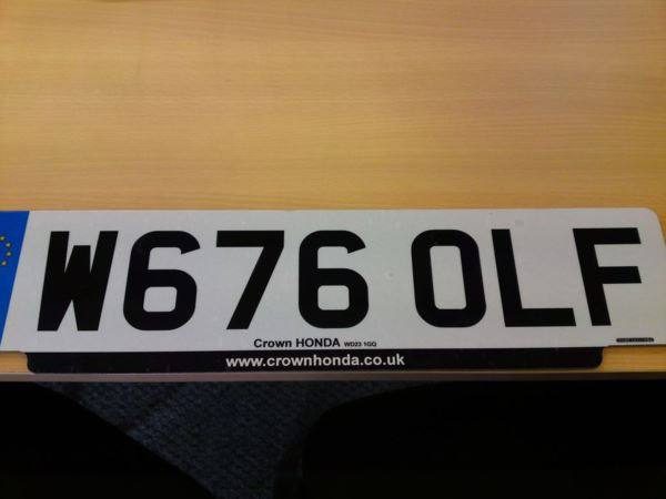 2000 W67 6olf NUMBER PLATE FOR SALE For Sale In Watford, Hertfordshire